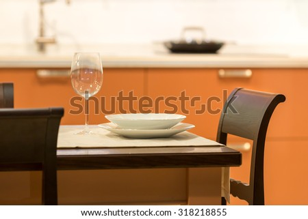 Served table - stock photo