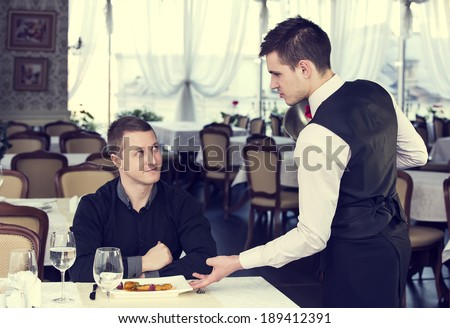 server and client in the restaurant