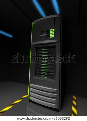Server case - stock photo