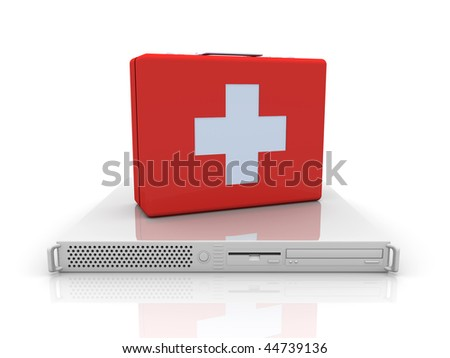 Server first aid - stock photo