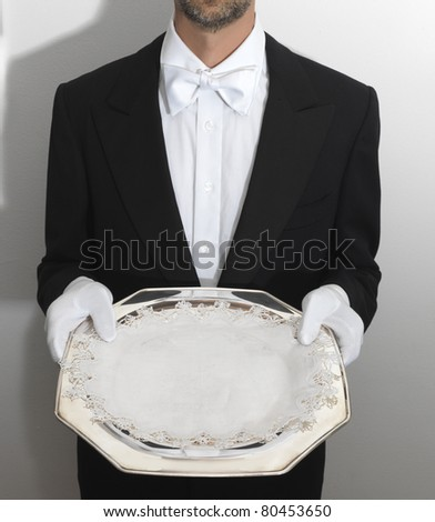 server in swallowtail - stock photo