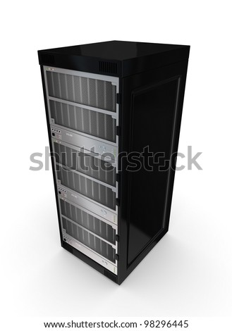 Server. Isolated on white background. 3d rendered