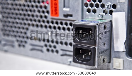Server Power Supply Connectors Stock Photo 53089849 - Shutterstock