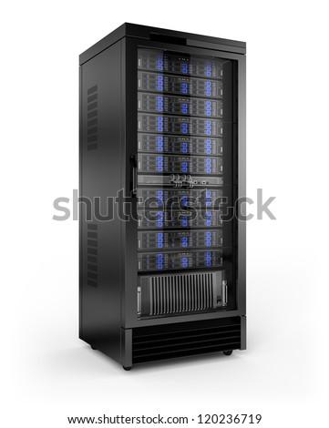 Server Rack - stock photo