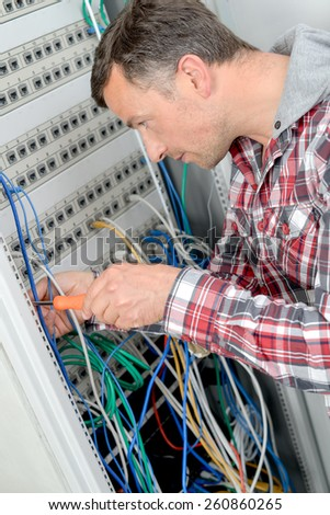 Server repair - stock photo