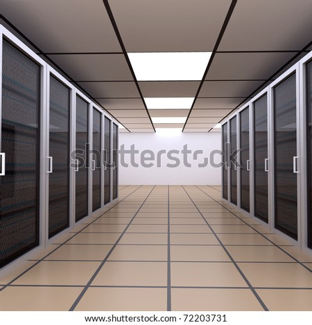 Server Room / Internet Hosting - stock photo
