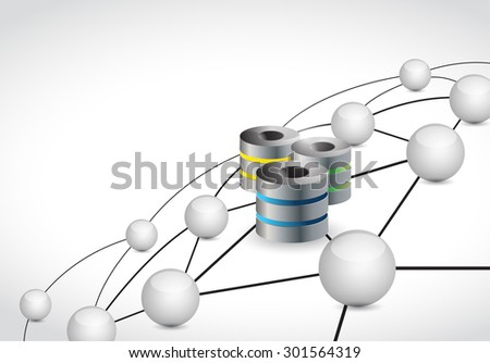 servers link sphere network connection concept illustration design graphic background - stock photo