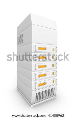Servers, network discs. - stock photo