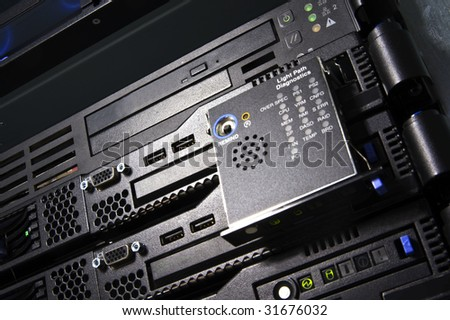 Servers with shiny Light path diagnostics panel