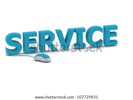 Service and computer mouse - stock photo