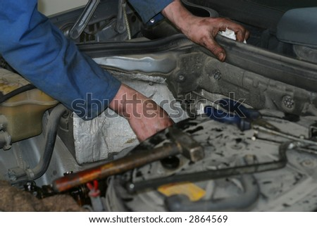 service, auto, automobile, automotive - stock photo