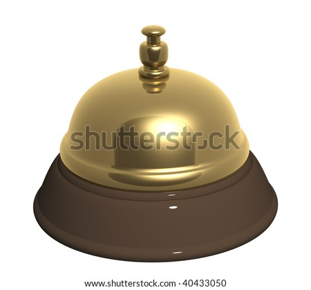 Service bell - isolated over white