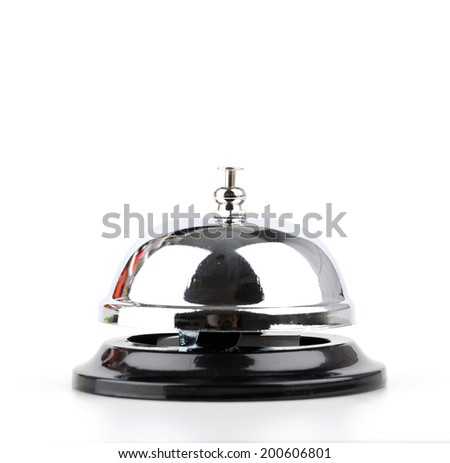 Service bell isolated white background - stock photo