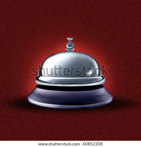 service bell  on red background