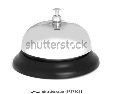 service bell ring isolated on a white background