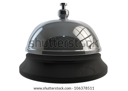 Service bell ring on a white background - stock photo