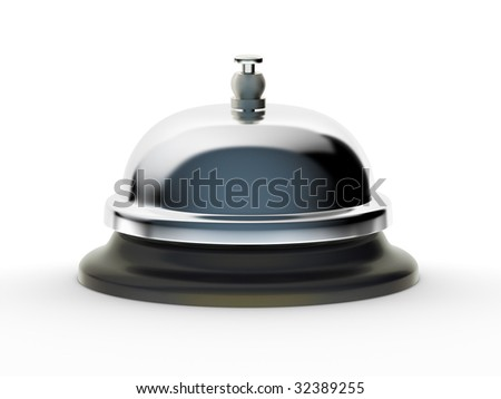 Service Bell (with clipping path) - stock photo