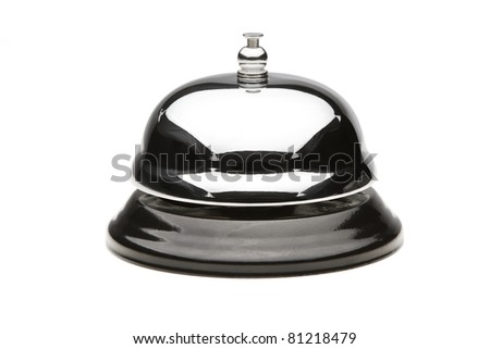 Service bell with clipping path - stock photo