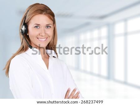 Service. Call-center representative - stock photo