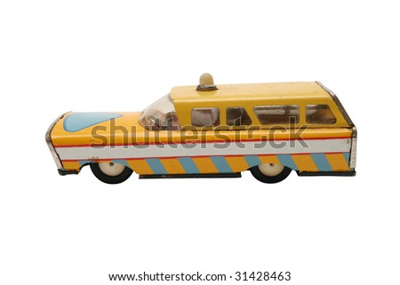 Service car with clipping path - stock photo