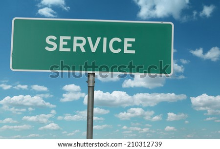 Service creative sign - stock photo