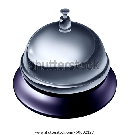 service desk bell isolated on white background