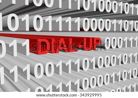 service dial-up are presented in the form of binary code