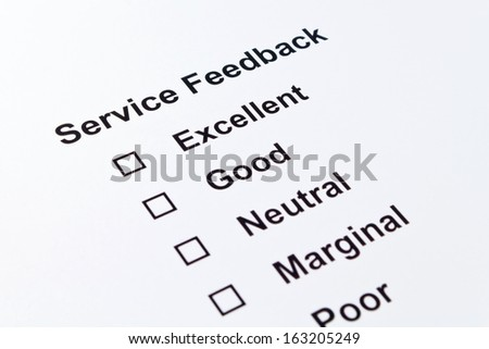 service feedback isolated over white background - stock photo