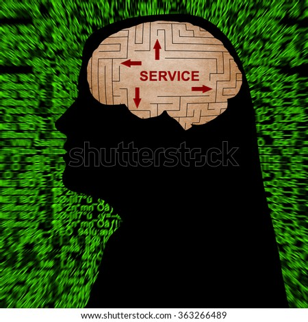 Service in mind - stock photo