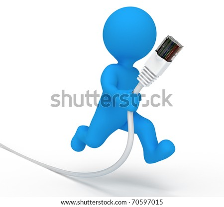 Data Cable Icon Service Man Data Cable Stock