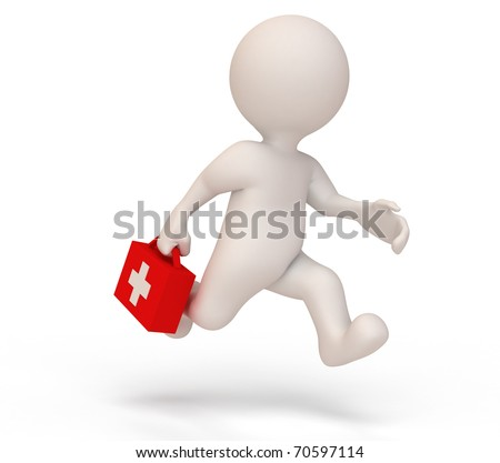 Service man doctor - stock photo