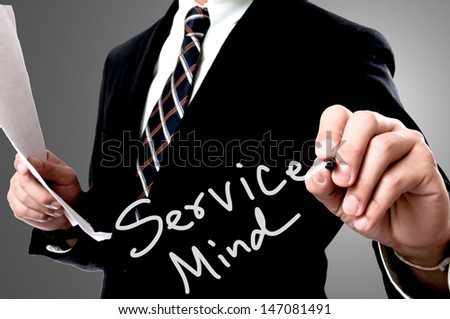 Service mind concept - stock photo