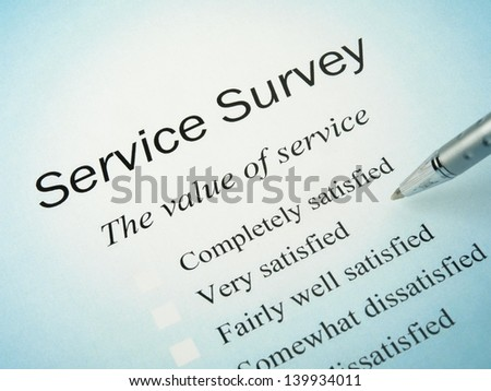 Service Survey - stock photo