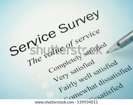 Service Survey - stock photo