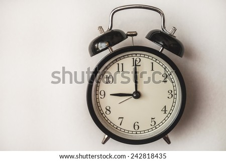 service time watch clock dial morning lesson lecture break waiting white background - stock photo