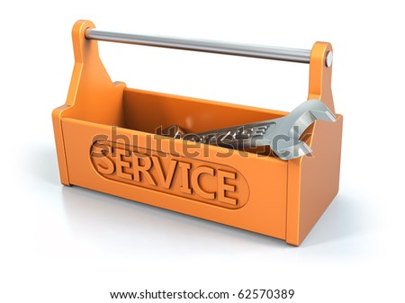 Service toolbox, 3d symbol - stock photo