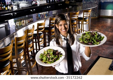 Service with a smile - stock photo