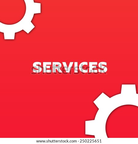 SERVICES - stock photo