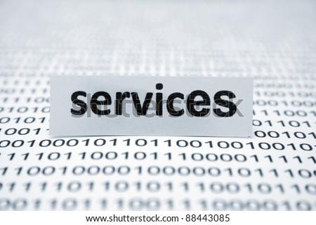Services - stock photo