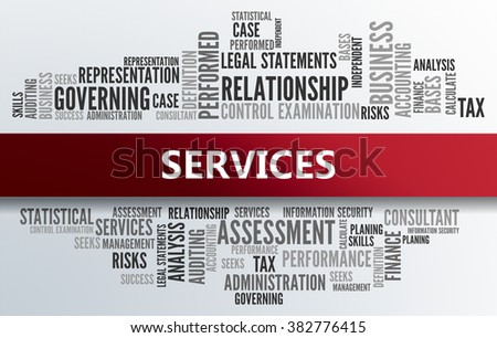 SERVICES   Business Abstract Concept - stock photo