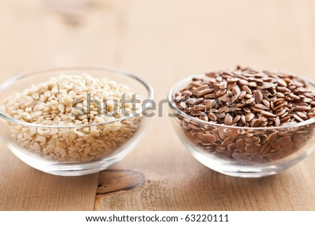sesame and linseed - stock photo