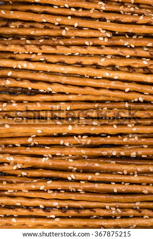 Sesame Sticks macro shot for use as background image or as texture - stock photo