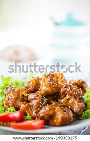 Sesame Teriyaki chicken recipe with whole grain rice
