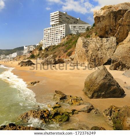 Sesimbra - portuguese Atlantic coast - stock photo