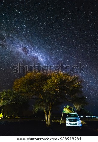Sesriem Namibia - 20 MAY 2017 Toyota Hilux with Roof top tent and the & Sesriem Namibia 20 May 2017 Toyota Stock Photo 668918281 ...