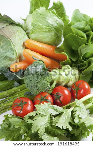 Set a variety of vegetables