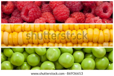 Set background of natural food, close-up, high resolution - stock photo