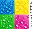 set backgrounds with colorful bubbles - stock photo