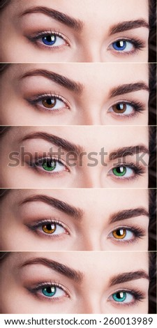 Colored Contact Lenses Stock Photos, Images, & Pictures ...