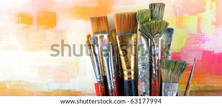 Set brushes - stock photo